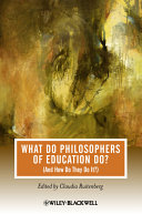 What Do Philosophers of Education Do