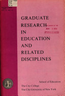 Graduate Research in Education and Related Disciplines Book