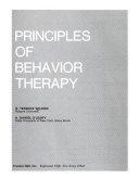 Principles of Behavior Therapy