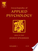 """Encyclopedia of Applied Psychology"" by Charles Spielberger"