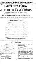 Une présentation, ou le comte de Saint-Germain