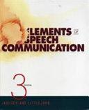 Elements Of Speech Communication