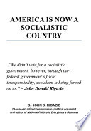 America Is Now a Socialistic Country Book PDF