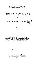 Transactions of the International Medical Congress of Philadelphia  1876