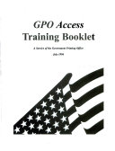 Gpo Access Training Booklet
