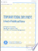 Temporary Federal Employment