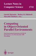 Computing in Object Oriented Parallel Environments