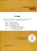 Government Reports Index