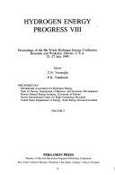 Hydrogen Energy Progress Viii Book PDF