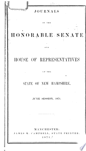 Download Journal of the Senate of New Hampshire PDF