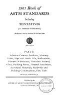 Book Of Astm Standards Including Tentatives Book PDF