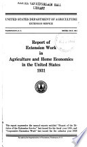 Report of Cooperative Extension Work in Agriculture and Home Economics