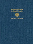 A Reference Guide for English Studies
