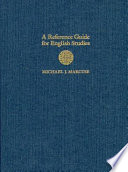 """""""A Reference Guide for English Studies"""" by Michael J. Marcuse"""