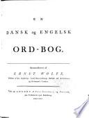 En dansk og engelsk ord bog Book