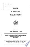 Code of Federal Regulations     Title 9  Animals and Animal Products Book PDF