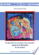 El espectáculo de la creación y de la recepción  : Juegos de la edad tardía de Luis Landero