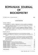 Romanian Journal Of Biochemistry Book PDF