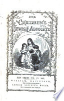 The Children s Jewish Advocate  New Series