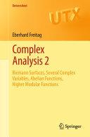 Complex Analysis 2