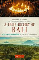 Pdf Brief History Of Bali Telecharger