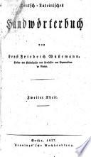 Deutsch-lateinisches handwörterbuch