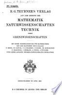 B.G. Teubner's Verlag auf dem Gebiete der Mathematik, Naturwissenschaften, Technik nebst Grenzwissenshaften