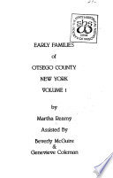 Early Families of Otsego County, New York
