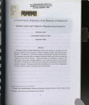 A Cross country Estimation of the Elasticity of Substitution Between Labor and Capital in Manufacturing Industries Book