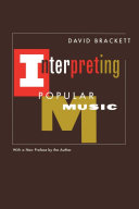 Pdf Interpreting Popular Music