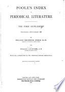 Poole s Index to Periodical Literature Book PDF