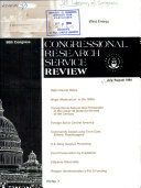 Congressional Research Service Review Book PDF