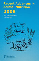 Recent Advances in Animal Nutrition 2008 Book
