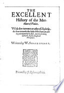 The Excellent History of the Merchant of Venice Book PDF