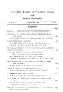 Sudan Journal Of Veterinary Science And Animal Husbandry
