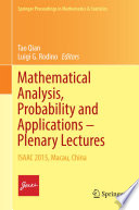 Mathematical Analysis  Probability and Applications     Plenary Lectures Book