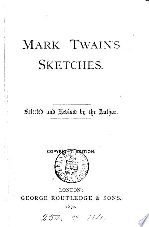 Download Mark Twain's sketches PDF