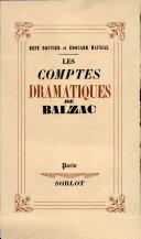 Pdf LES COMPTES DRAMATIQUES DE BALZAC Par FERNAND SORLOT Telecharger