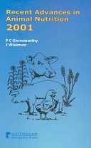 Recent Advances in Animal Nutrition 2001 Book