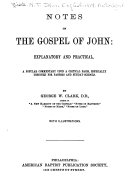 Notes of the Gospel of John