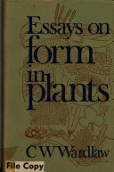 Essays on Form in Plants