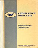 Proposed Social Security Amendments Of 1967