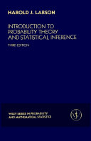Introduction to Probability Theory and Statistical Inference