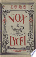 Vox Lycei 1927 1928 Book