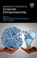 Handbook of Research on Corporate Entrepreneurship