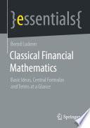 Classical Financial Mathematics Book
