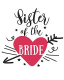 Sister of the Bride: 108 Page College Ruled Notebook 8x10