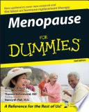 """Menopause For Dummies"" by Marcia L. Jones, Theresa Eichenwald, Nancy W. Hall"