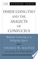 Hsieh Liang Tso And The Analects Of Confucius Book PDF