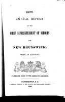 Annual Report of the Schools of New Brunswick